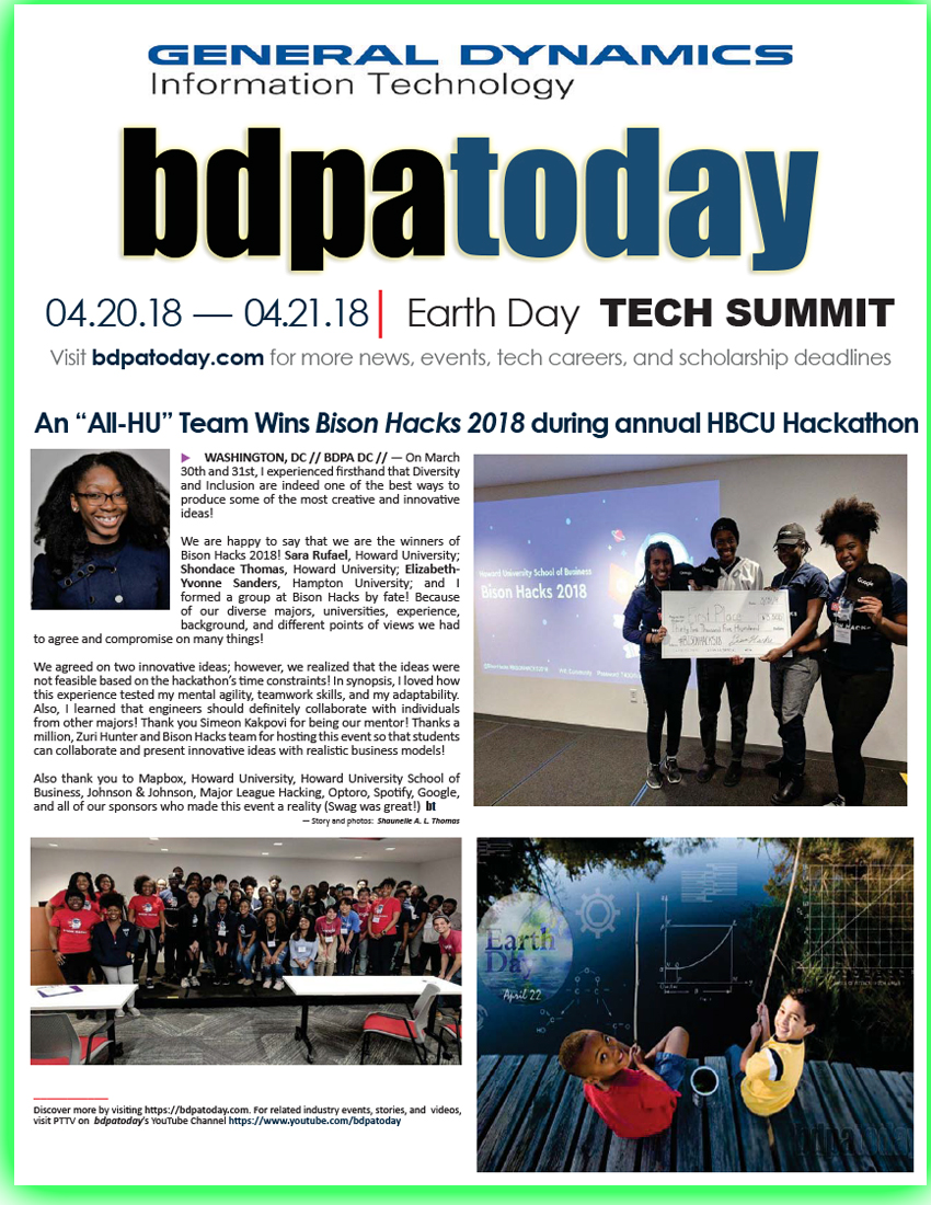 bdpatoday | 2018 Earth Day Tech Summit