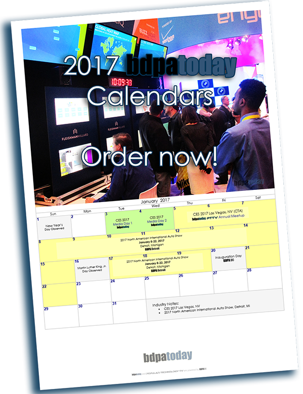 bdpatoday's 2017 Tech Calendar on sale now