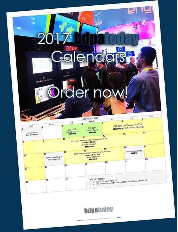 bdpatoday's 2017 Tech Calendar on sale now
